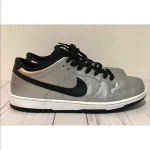 new concept 4e4da 866ee Nike SB Premium Dunk Low Cold Pizza Metal Silver ...